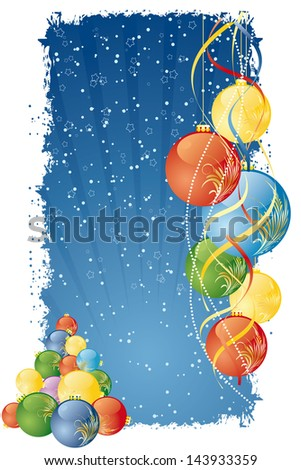Grunge Vector Abstract Christmas and New Year's background