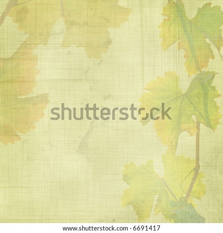 grunge vine leaves background - stock photo