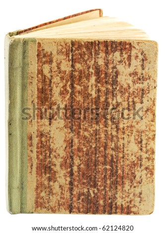 Grunge, vintage book isolated (with clipping patch) - stock photo