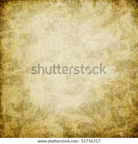 Grunge vintage decorated background with space for text. Useful as background for design works. - stock photo