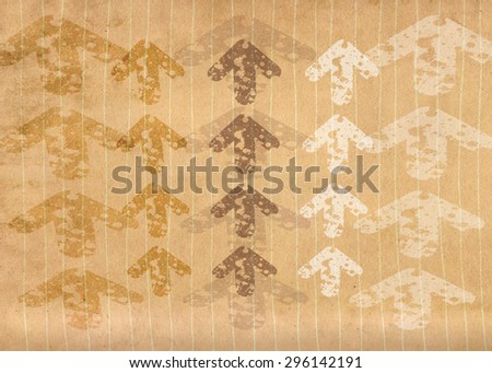 Grunge vintage lined paper with overlapping arrows - stock photo