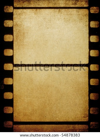 Grunge vintage 35 mm film background with space for text. - stock photo