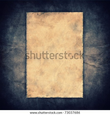 Grunge vintage old paper on canvas texture background - stock photo