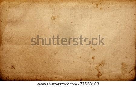 Grunge vintage old paper sheet - stock photo