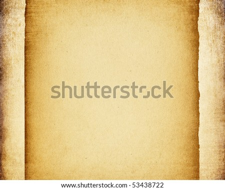 Grunge vintage paper frame background.