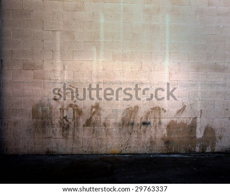 Grunge Wall From Photograph - stock photo