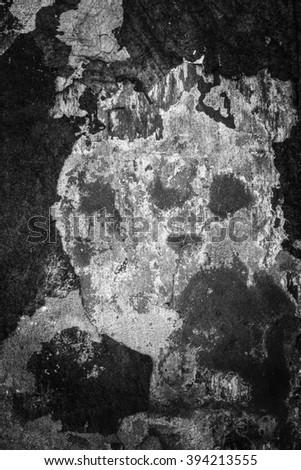 Grunge wall Sandstone surface background / Damaged facade - stock photo