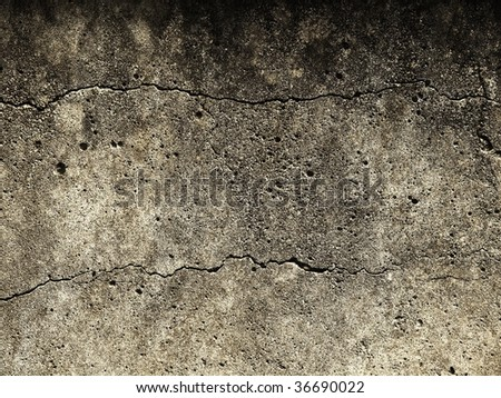 Grunge wall texture with cracks - stock photo