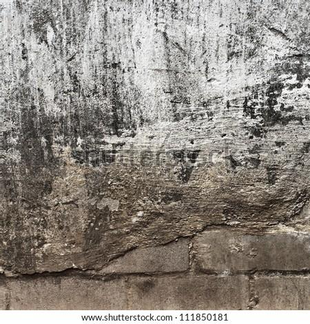 grunge wall, textured background - stock photo