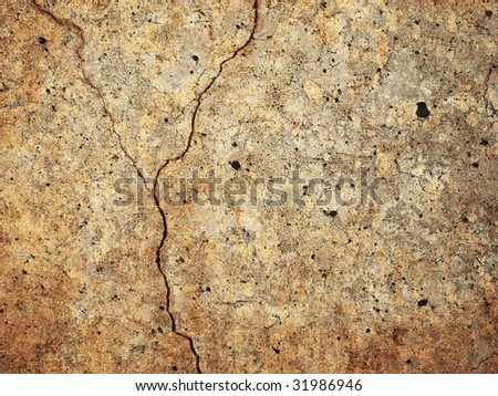 grunge wall with large crack