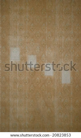 grunge wallpaper with frame - stock photo