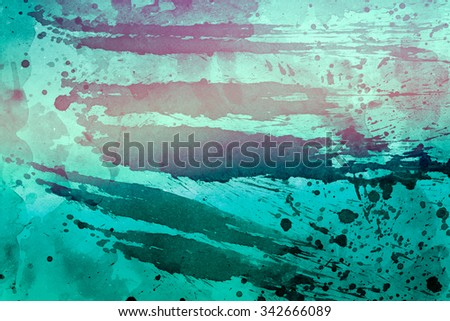 Grunge watercolor background, colorful illustration