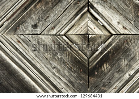 Grunge Wood panels for background - stock photo