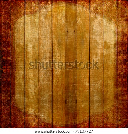 Grunge wooden vintage scratch background . Abstract backdrop for illustration - stock photo