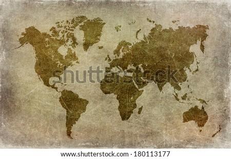 Grunge world map background stock illustration 180113177 shutterstock grunge world map background gumiabroncs Gallery