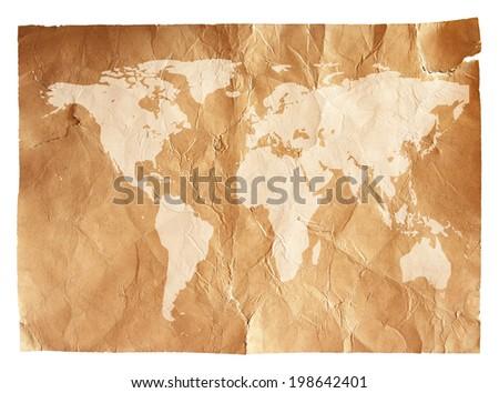 Grunge world map background stock photo 198642401 shutterstock grunge world map background gumiabroncs Gallery