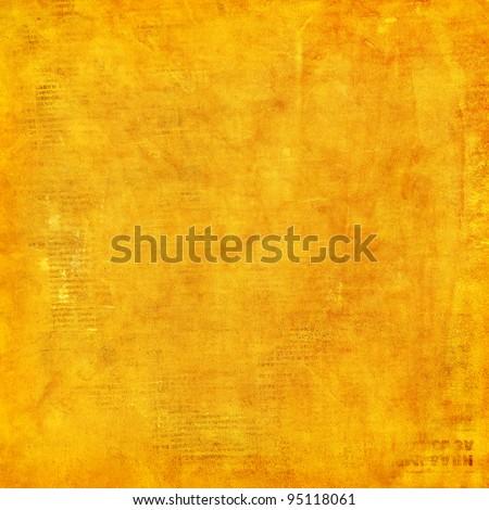 Grunge yellow background. - stock photo