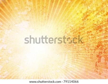 Grunge yellow background sun - stock photo