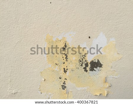 Grunge yellow cement background texture dirt