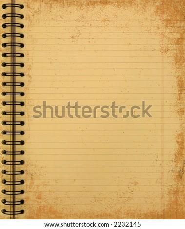 grunge yellow notebook - stock photo