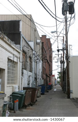 Grungy Alleyway - stock photo