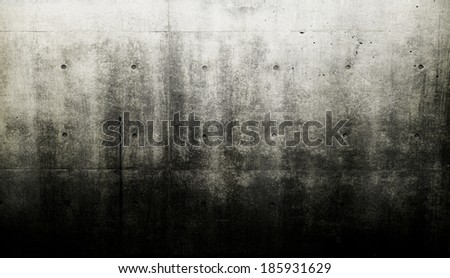 Grungy and bare concrete wall. - stock photo