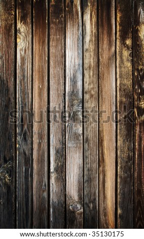 Grungy and dirty burned wooden plank - stock photo