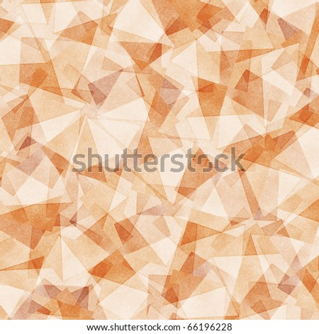 Grungy and grainy bleached abstract  background in light pastel colors, made of intersecting geometric figures and vintage paper texture - stock photo