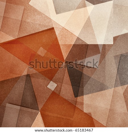 Grungy and grainy bleached abstract color background, made of intersecting geometric figures, vintage paper texture in square shape