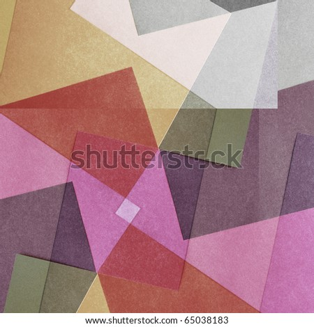 Grungy and grainy bleached abstract color background, made of intersecting geometric figures and lines, vintage paper texture in square shape - stock photo