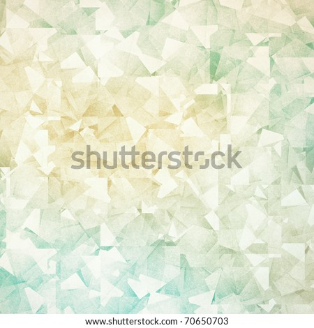 Grungy and grainy bleached abstract color background, made of many intersecting geometric figures, vintage paper texture - stock photo
