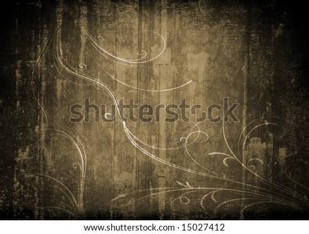 Grungy antique background wallpaper - stock photo