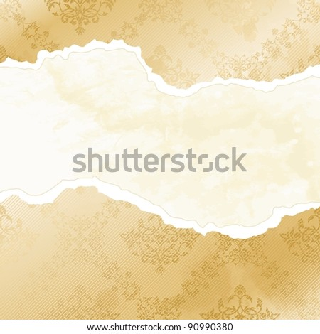 Grungy arabesque wallpaper banner (jpg); EPS 10 version also available - stock photo