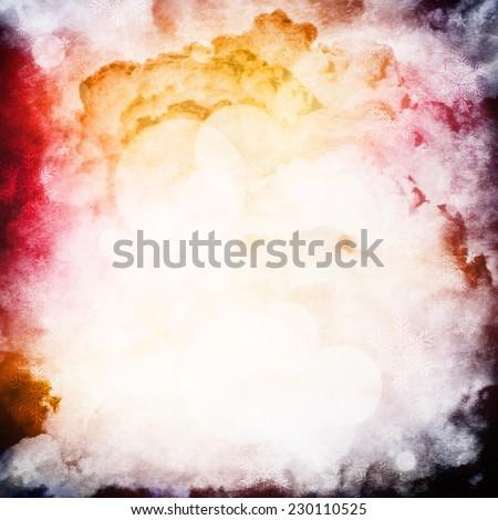 Grungy background dark clouds - stock photo