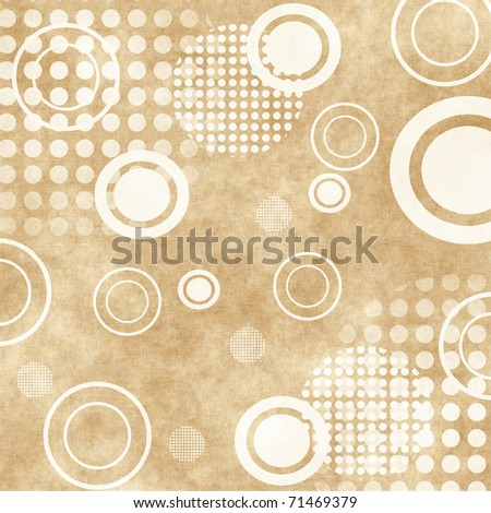 Grungy Background.old paper with circles , abstract background - stock photo