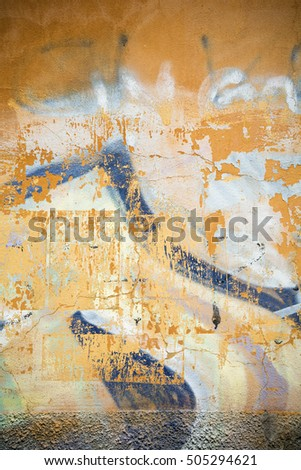 Grungy background with warm tones and assorted textures