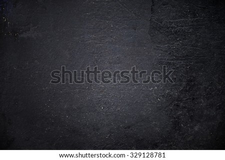 Grungy black textured metal background - stock photo