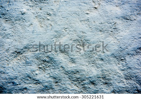 Grungy blue and white concrete wall background vintage color tone style - stock photo