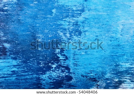 Grungy blue colored background - stock photo