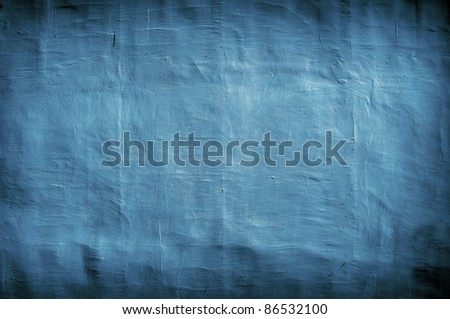 grungy blue vintage background with artistic shadows added - stock photo
