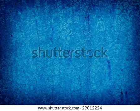 grungy blue wall