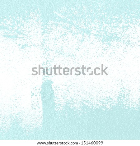 Grungy blue wall paint background with copy space. - stock photo