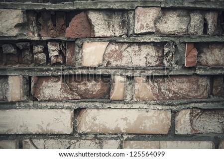 Grungy brick background - stock photo
