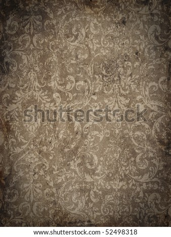 Grungy brocade background - stock photo