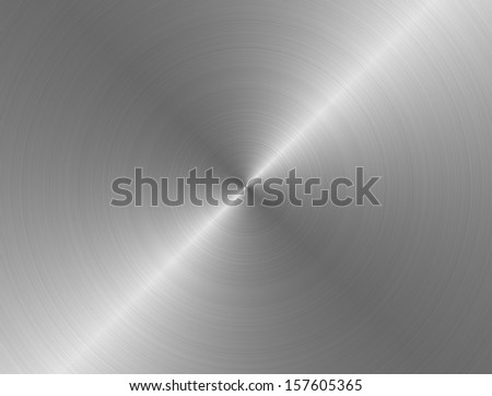 Grungy brushed industrial metal plate - stock photo