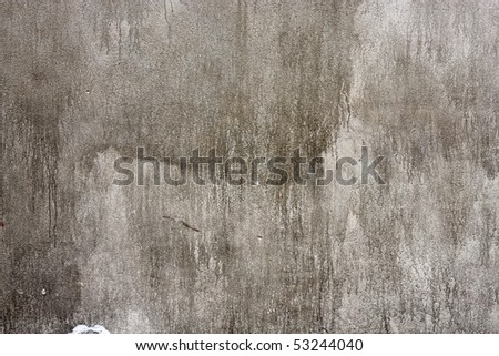 Grungy cement wall texture - stock photo