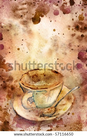 Grungy coffee background. Beautiful paper texture. - stock photo