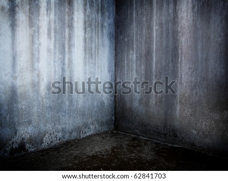 Grungy concrete corner. - stock photo