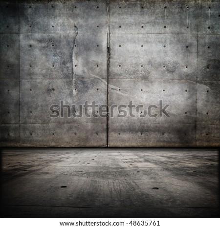 Grungy Concrete Room - stock photo