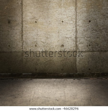 Grungy concrete wall - stock photo